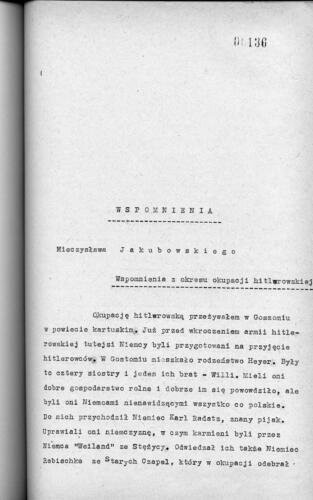 Relacja Mieczysław Jakubowski