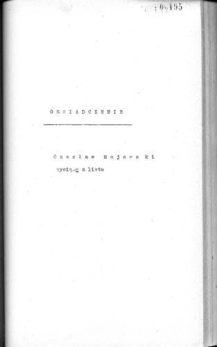 Relacja Czesław Majewski-2