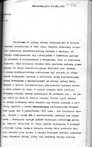 Relacja Stanisław Matuszczak