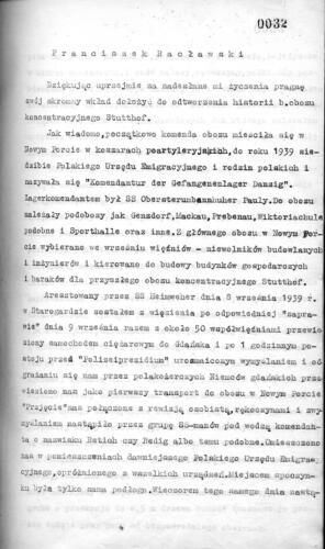 Relacja Franciszek Racławski