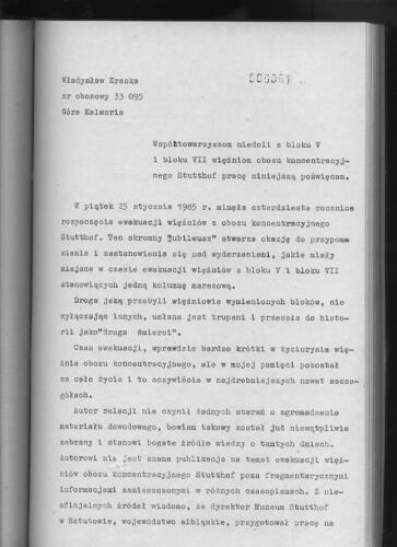 Relacja Władysław Kraska