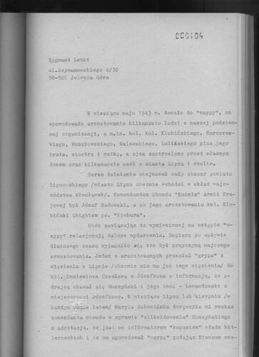Relacja Zygmunt Letki