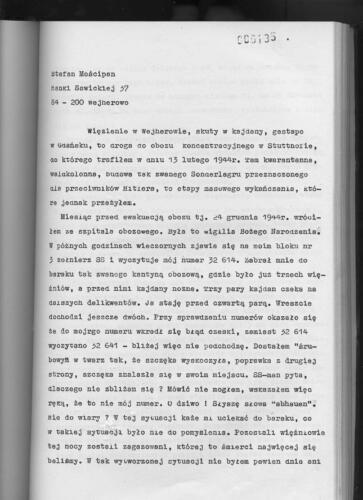 Relacja Stefan Mościpan