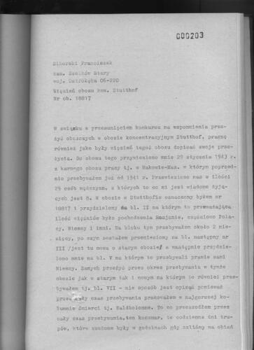 Relacja Franciszek Sikorski