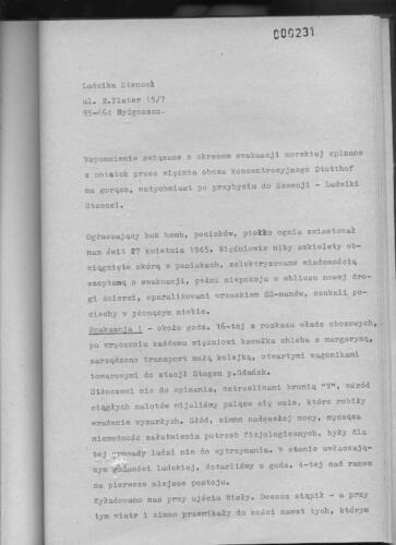 Relacja Ludwika Stencel