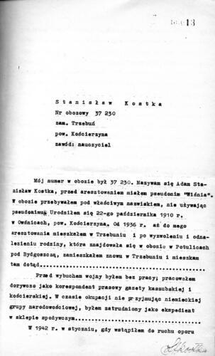Relacja Stanisław Kostka