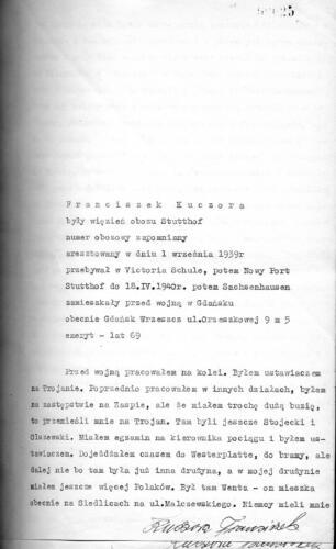 Relacja Franciszek Kuczora