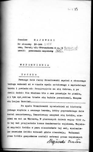 Relacja Czesław Majewski