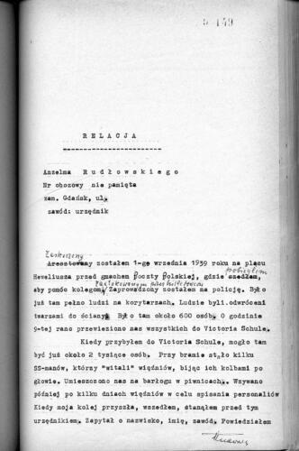Relacja Anzelm Rudłowski