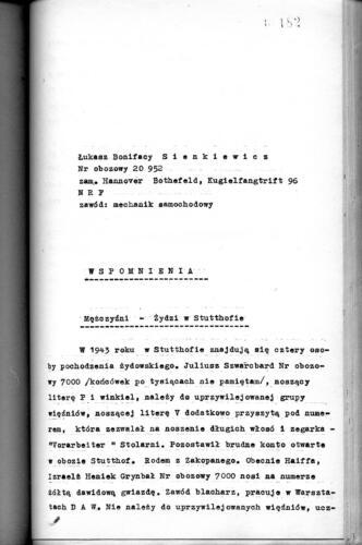 Relacja Łukasz Bonifacy Sienkiewicz