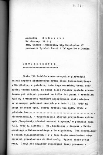 Relacja Augustyn Sikorski