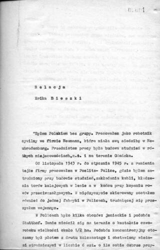 Relacja Eryk Bieszka