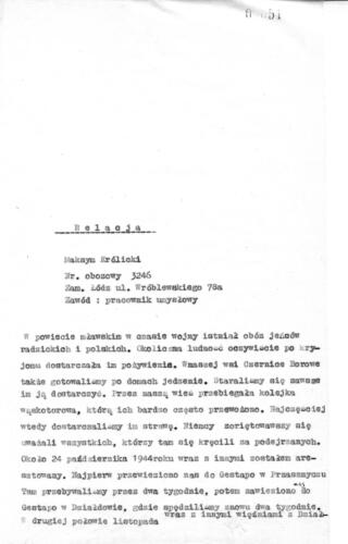 Relacja Maksym Królicki
