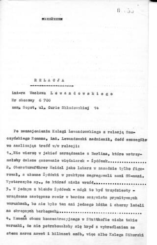 Relacja Wacław Lewandowski
