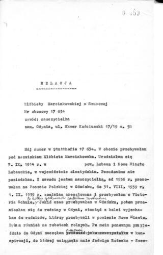 Relacja Elżbieta Marcinkowska-Szucowa
