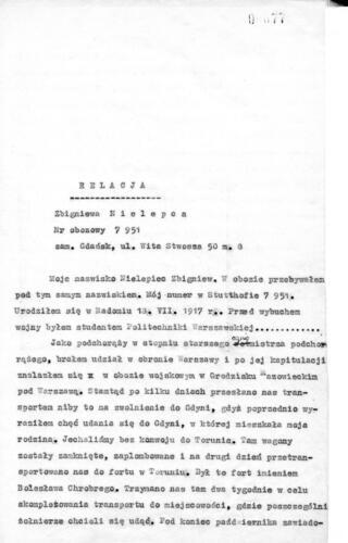 Relacja Zbigniew Nielepiec