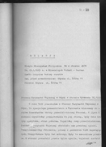 Relacja Mieczysław Filipowicz
