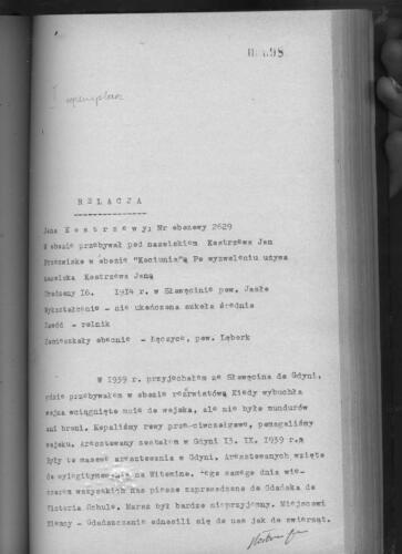 Relacja Jan Kostrzewa
